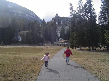 Back of Banff Springs Hotel
