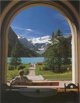 Chateau Lake Louise Window View