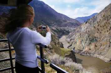 Taking Photo on Rocky Mountaineer